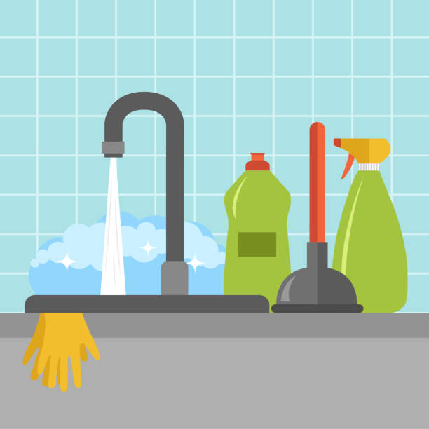 Excellent Best Dirty Dishes In Sink Illustrations Royalty Free Vector Home Interior And Landscaping Ymoonbapapsignezvosmurscom