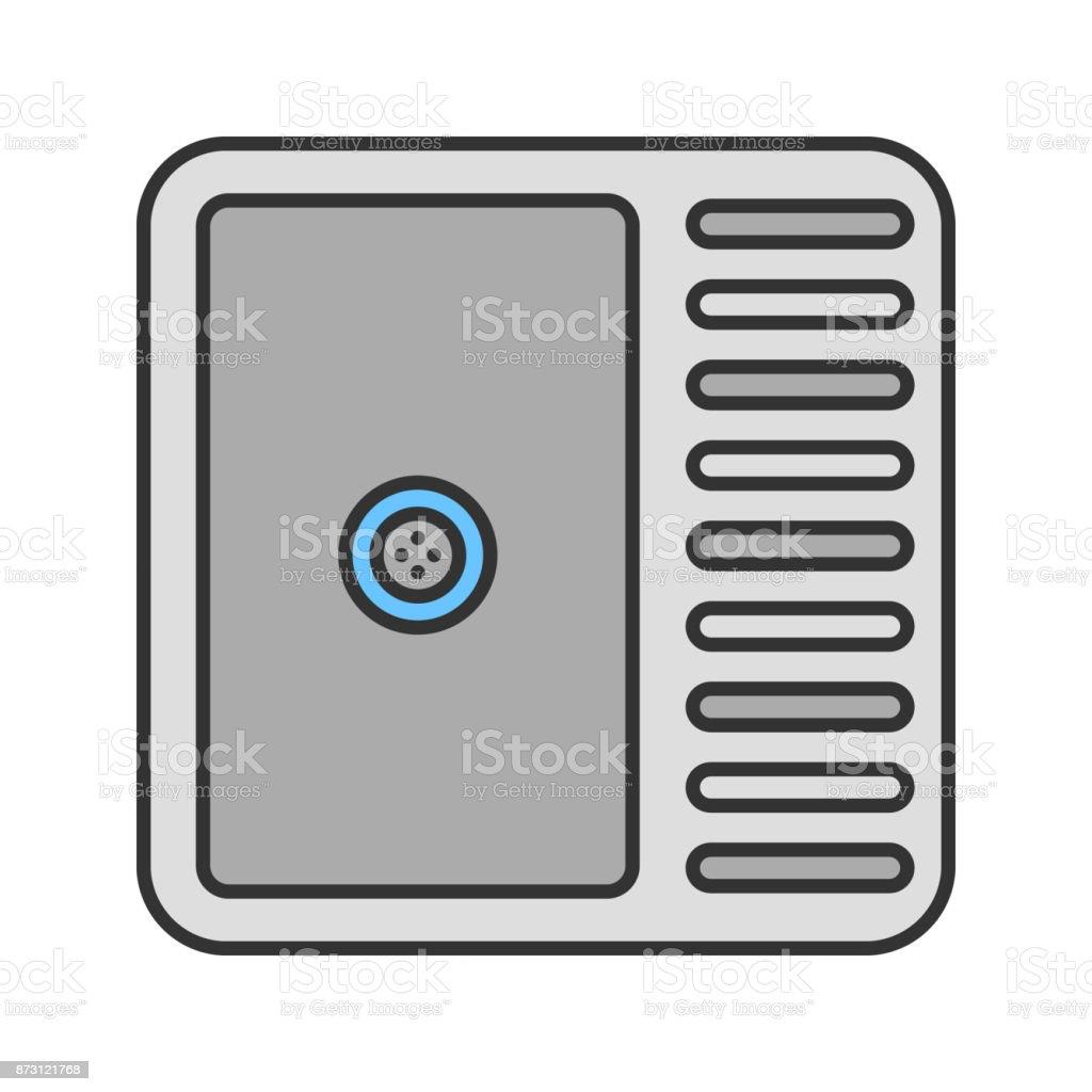 Kitchen sink icon vector art illustration