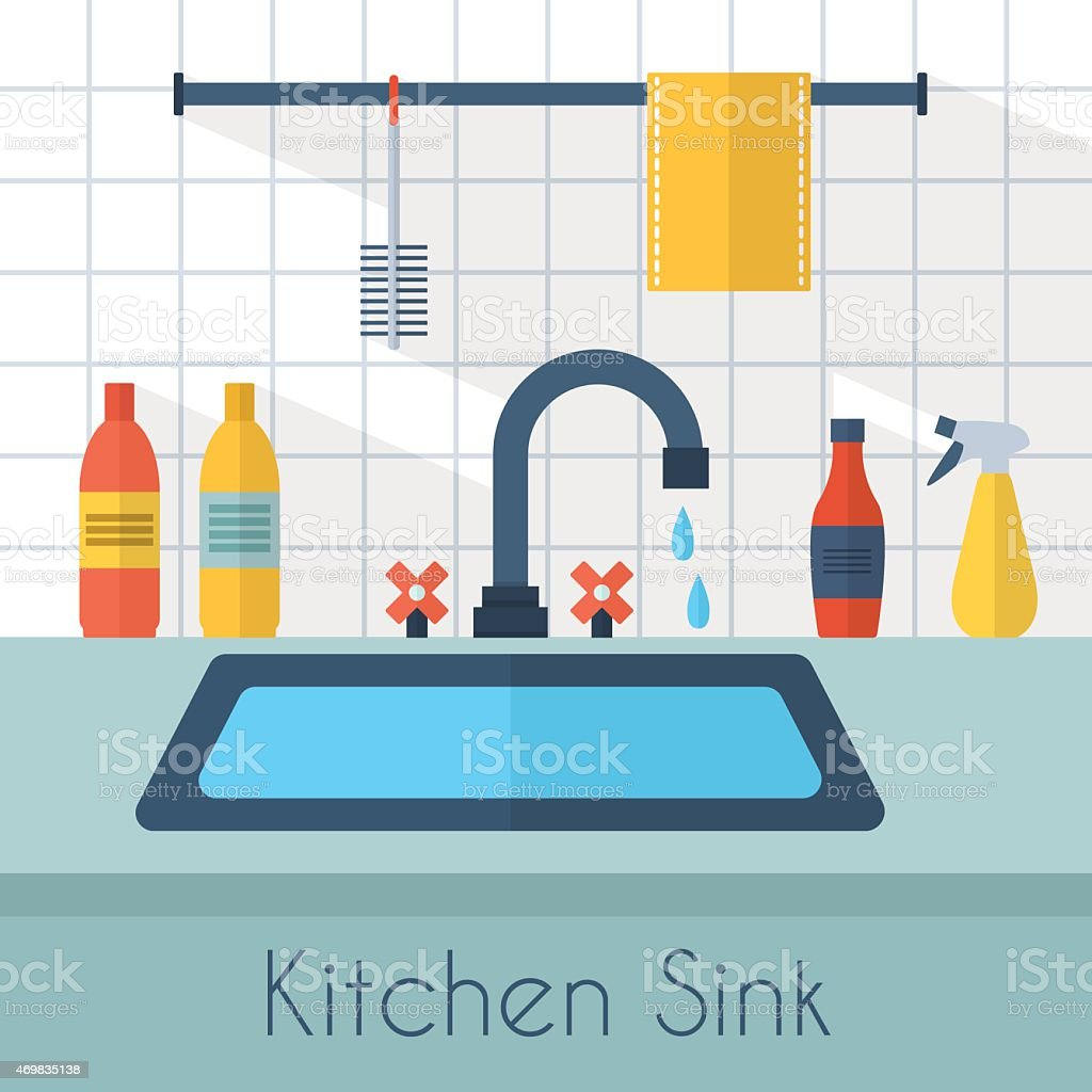 Kitchen Sink Stock Vector Art & More Images Of 2015