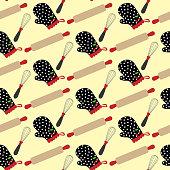 Kitchen stuff and potholder pattern