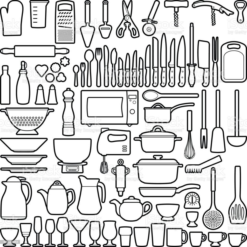 Kitchen tool vector art illustration