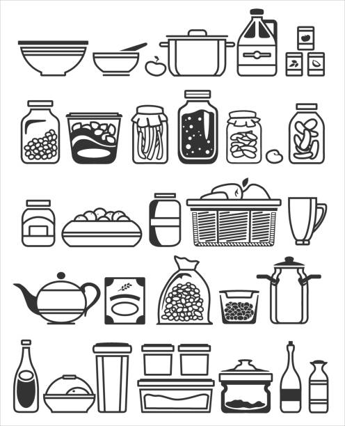 Food Pantry Illustrations, Royalty-Free Vector Graphics