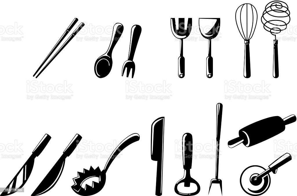 kitchen tools set royalty-free kitchen tools set stock vector art & more images of breakfast