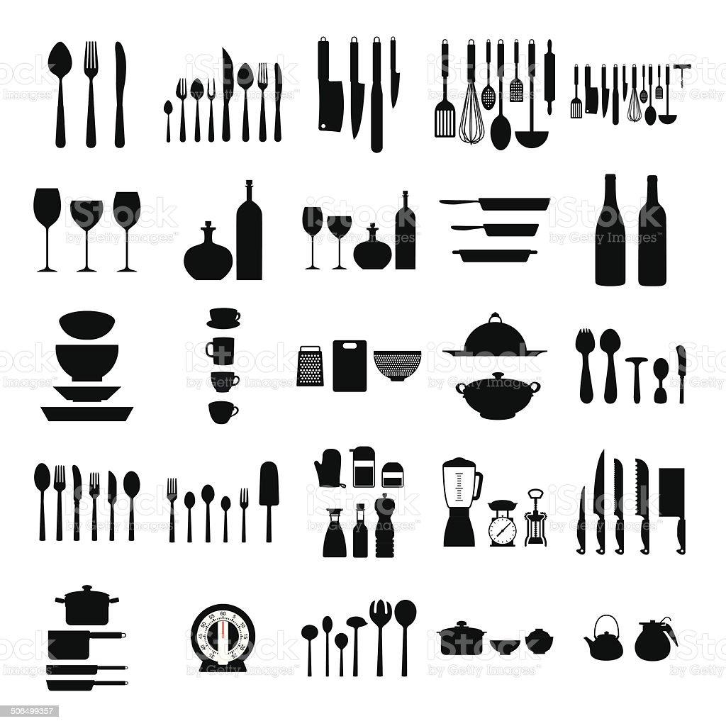 Utensili Da Cucina - Immagini vettoriali stock e altre immagini di ...
