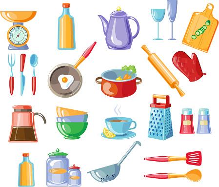 Kitchen Tools Vector Illustration Stock Illustration Download Image Now Istock