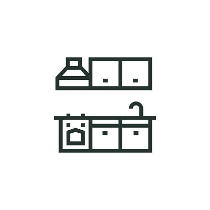 Kitchen Unit Line Icon