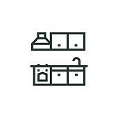 istock Kitchen Unit Line Icon 1316450908