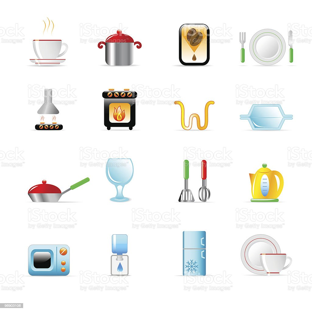 kitchen utensil icons royalty-free kitchen utensil icons stock vector art & more images of coffee - drink
