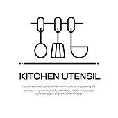 Kitchen Utensil Vector Line Icon - Simple Thin Line Icon, Premium Quality Design Element
