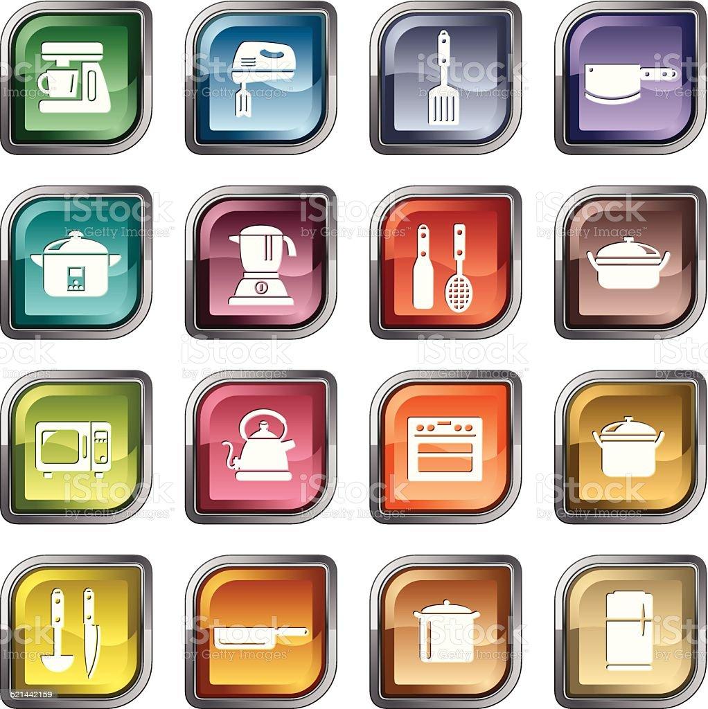 Küchenutensilien Und Küchengeräten Symbole Stock Vektor Art und mehr ...