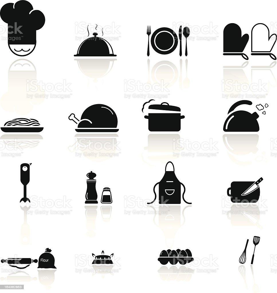 Kitchen Utensils and food  preparation vector art illustration