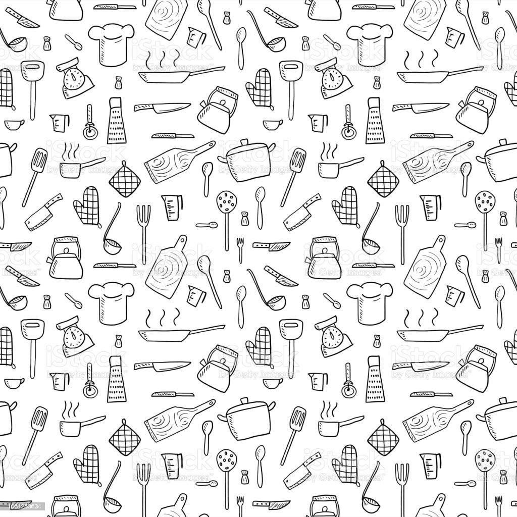 kitchen utensils background cartoon kitchen utensils background royaltyfree kitchen stock vector art amp more images utensils background stock vector art more images of