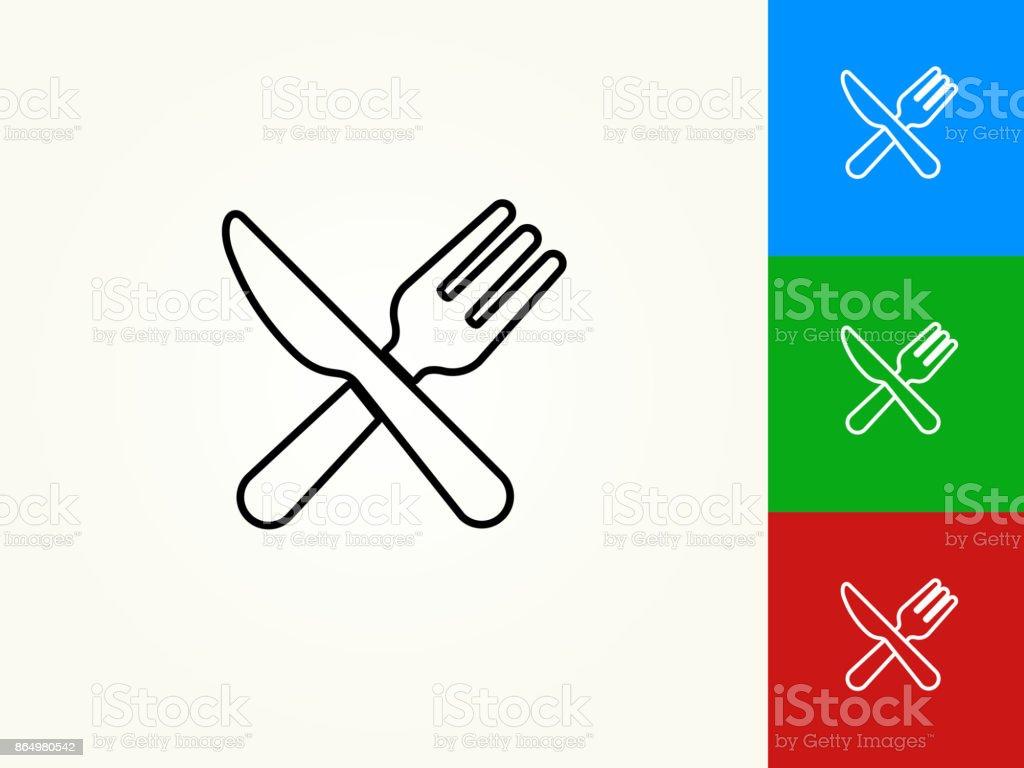Kitchen Utensils Black Stroke Linear Icon vector art illustration