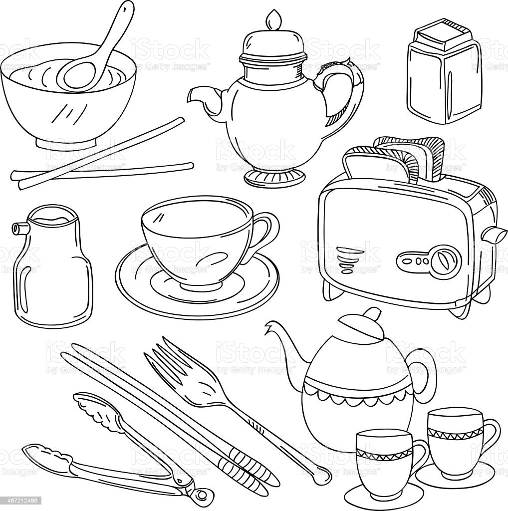 94 kitchen utensils drawing kitchen utensils drawings for Kitchen set drawing