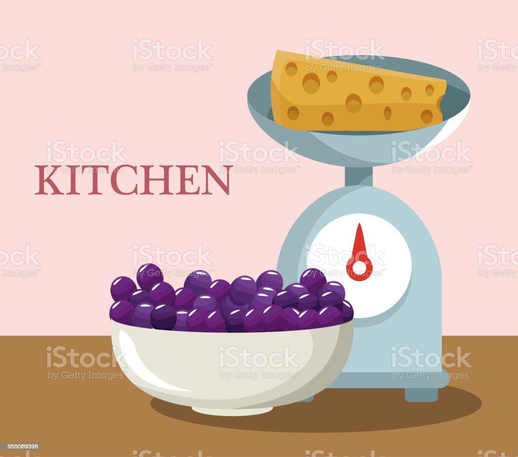 Conceito de utensílios de cozinha - ilustração de arte em vetor