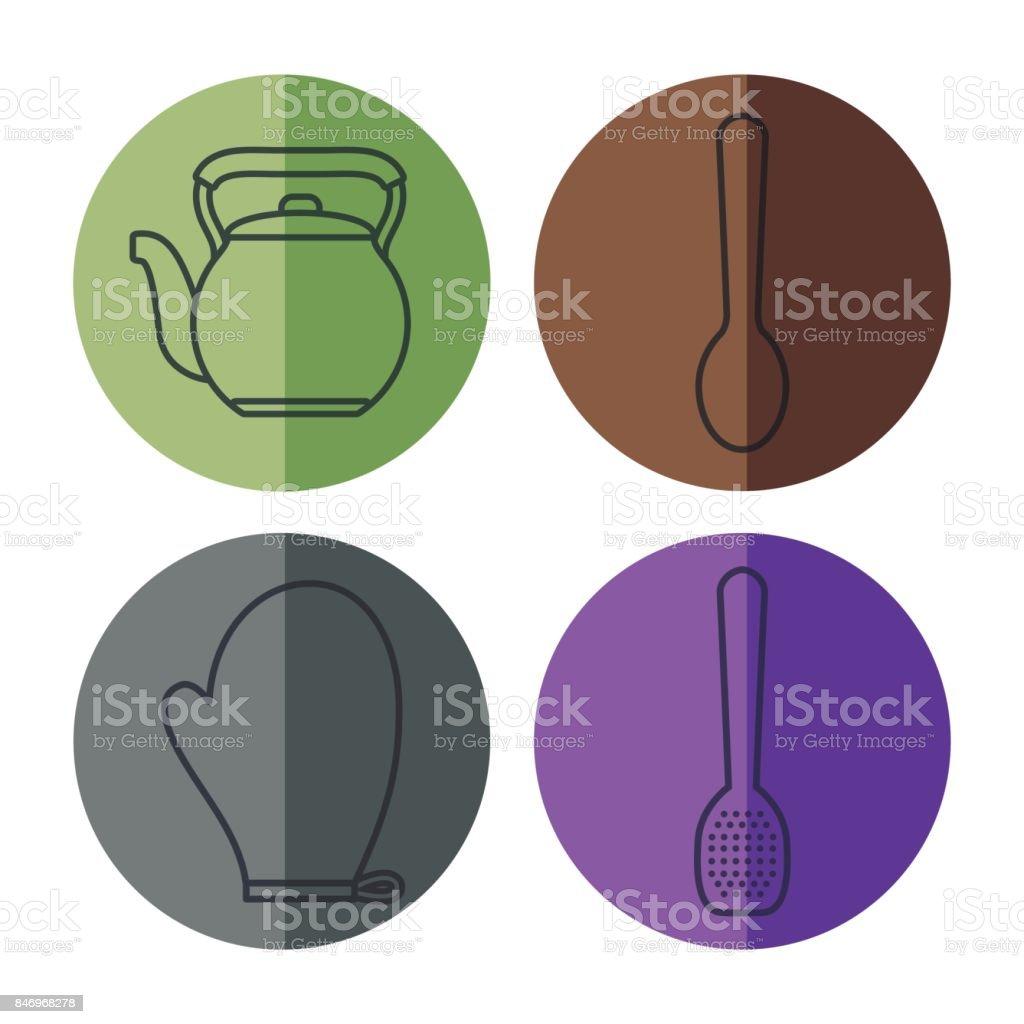 Ilustración de Utensilios De Cocina De Diseño y más Vectores ...