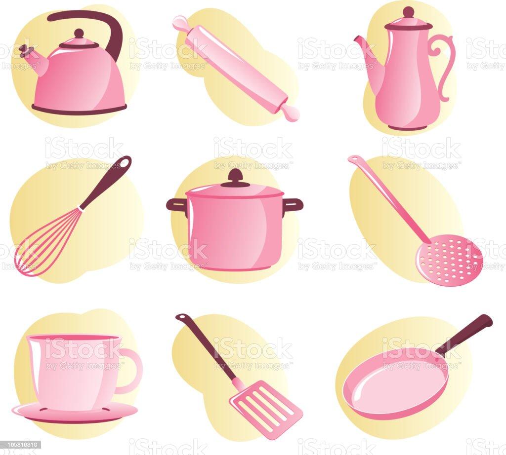 Ilustraci n de utensilios de cocina para ni as y m s banco for Utensilios de cocina para regalar