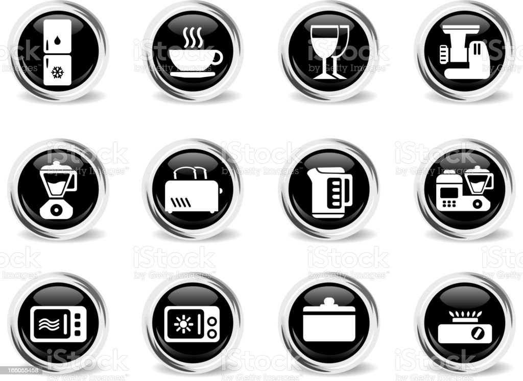 Kitchen Utensils Icon Set royalty-free kitchen utensils icon set stock vector art & more images of appliance