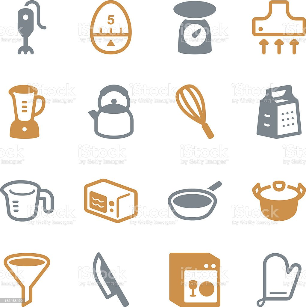 Kitchen Utensils Icons   set 1 - Color Series royalty-free stock vector art