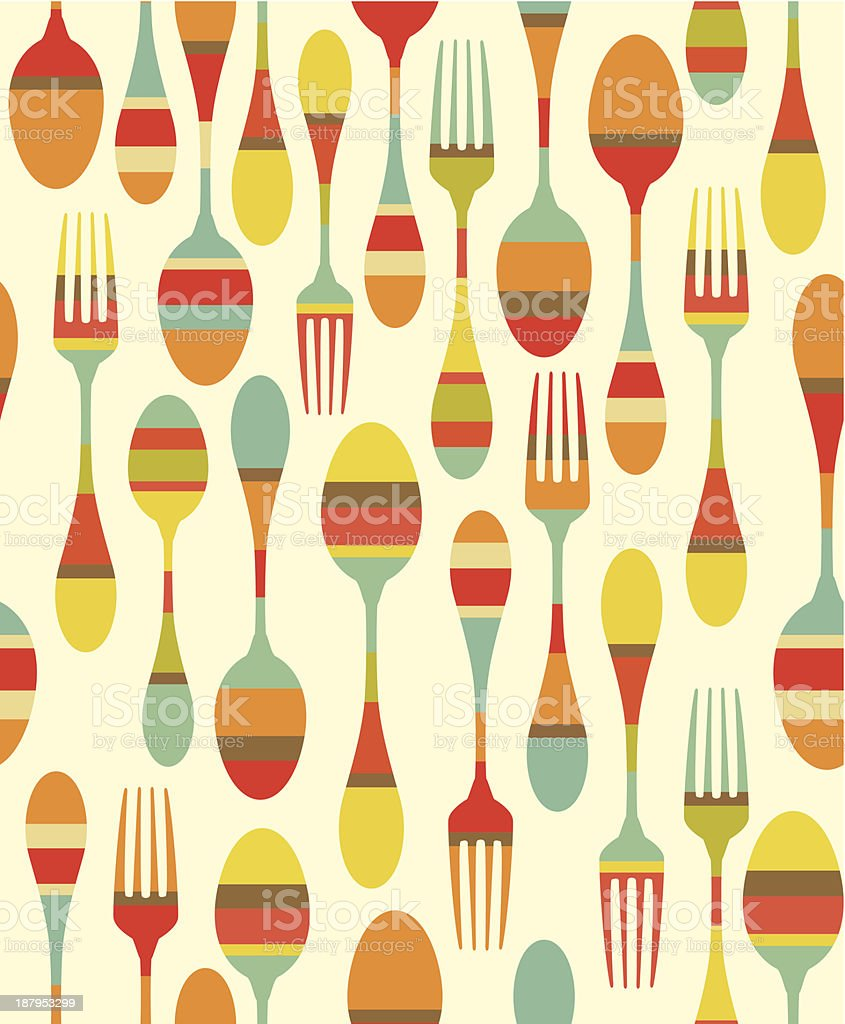 Kitchen utensils pattern royalty-free stock vector art