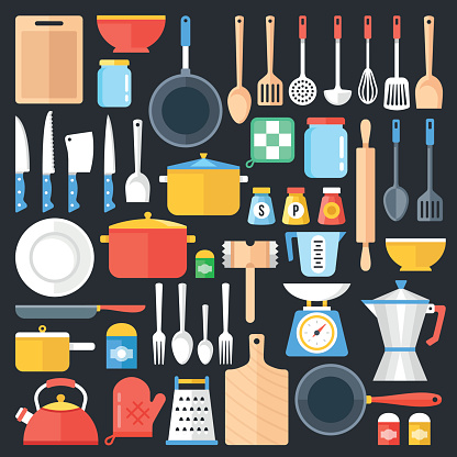 Cooking supply stock illustrations