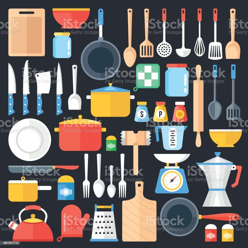 Genial Best Kitchen Utensil Illustrations, Royalty Free Vector ...