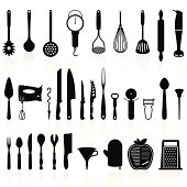 Kitchen Utensils Silhouette Pack 1 - Cooking Tools