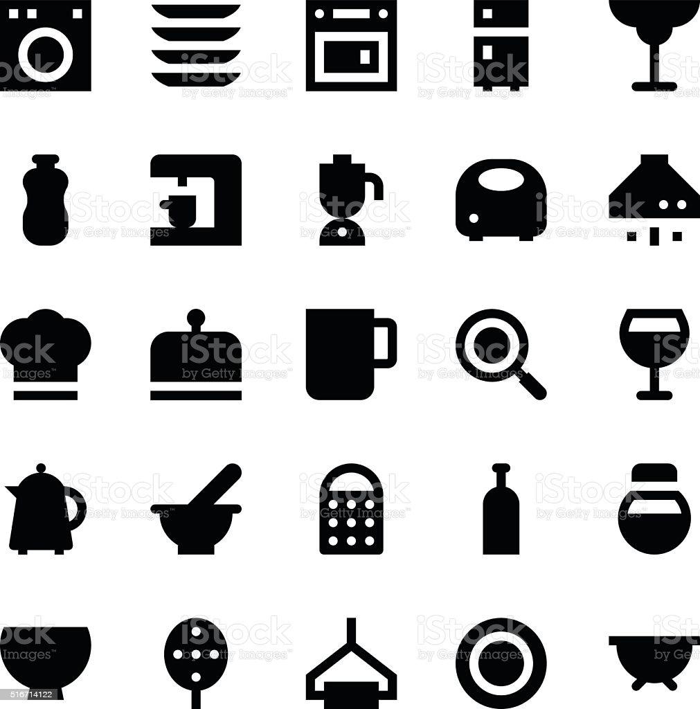 Kitchen Utensils Vector Icons 3 vector art illustration