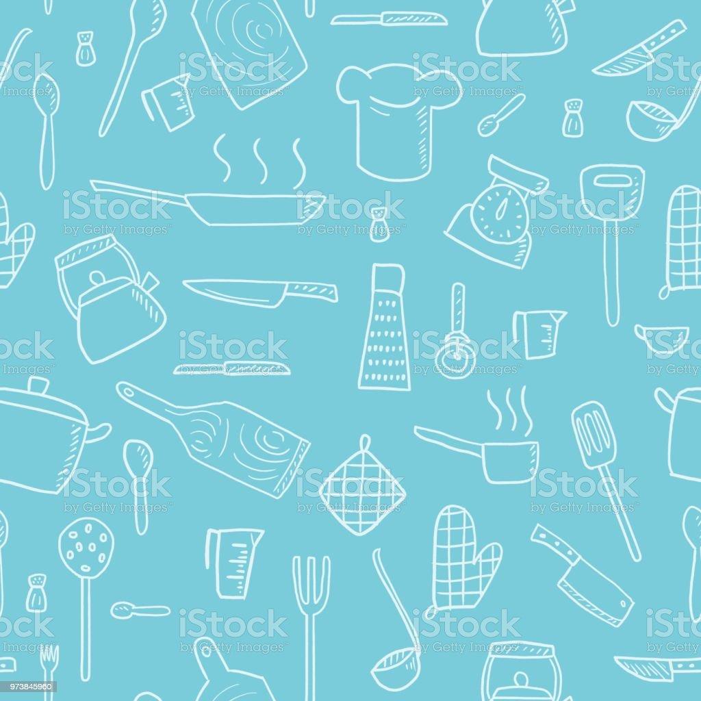 Kitchen Utensils Vector Stock Vector Art & More Images of ...