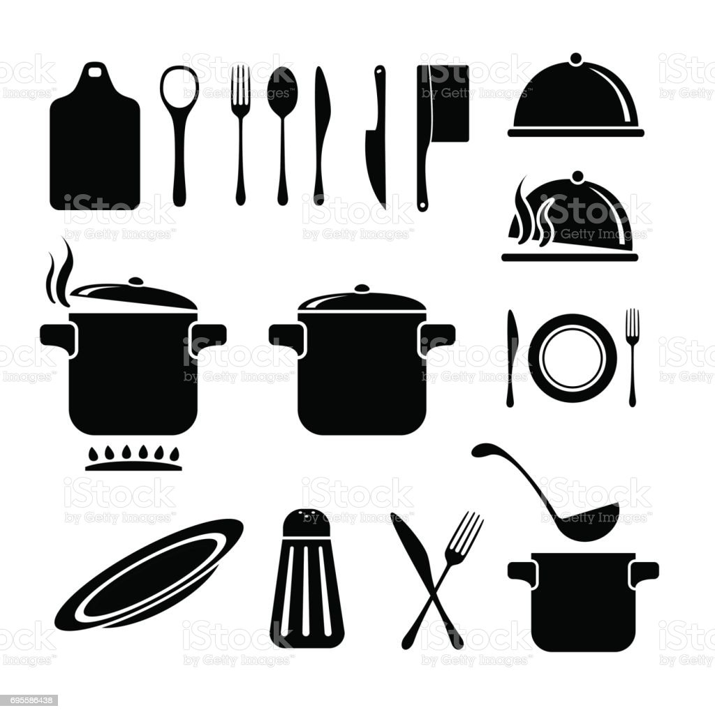 Kitchen Vector Icons Set Stock Vector Art & More Images Of