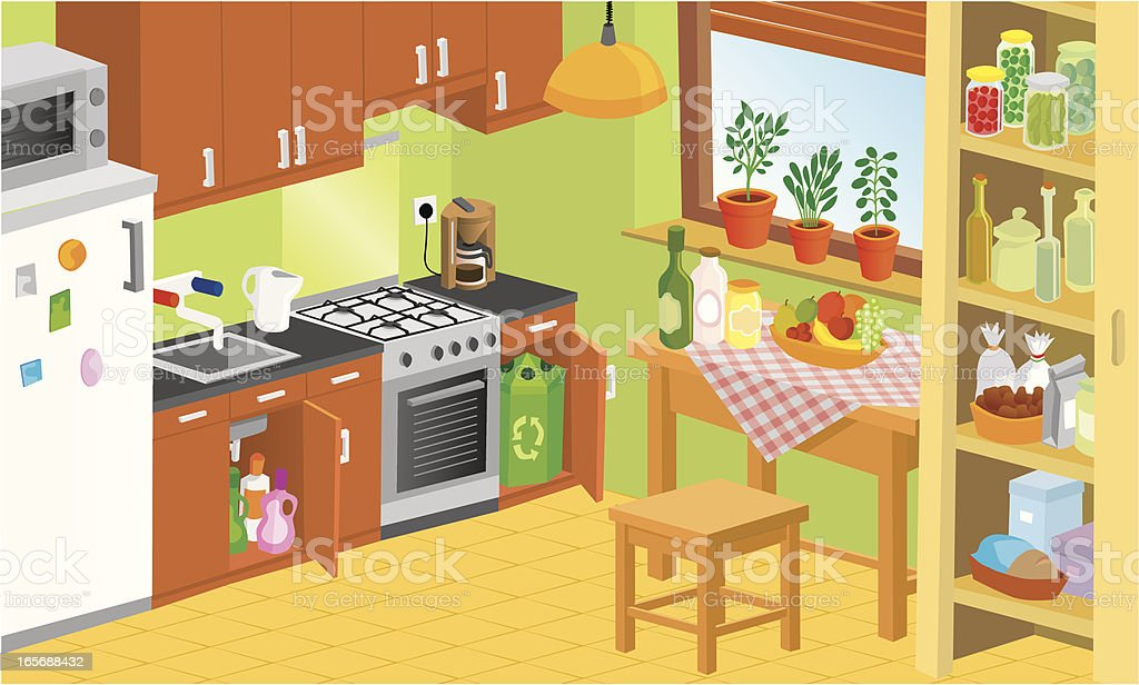 royalty free trash can kitchen clip art vector images rh istockphoto com kitchen clipart free kitchen clipart free