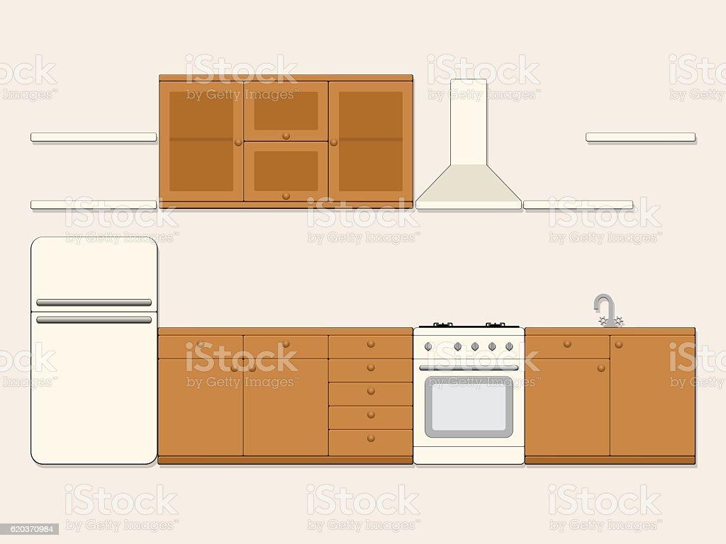 Cozinha. cozinha - arte vetorial de stock e mais imagens de arte, cultura e espetáculo royalty-free