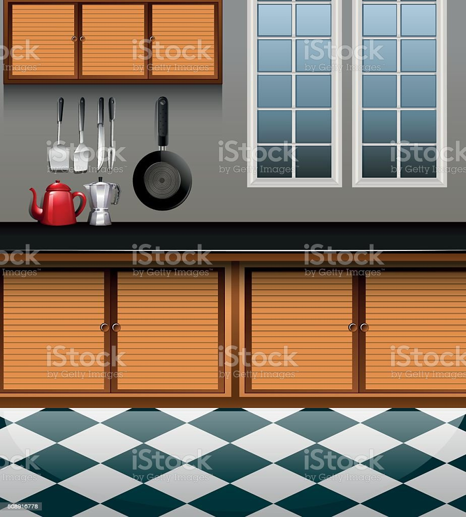 Kitchen With Wooden Cabinet Stock Vector Art & More Images of ... on mirror clipart, tv clipart, closet clipart, refrigerator clipart, kitchen house clipart, bed clipart, kitchen bowl clipart, kitchen appliances clipart, wood clipart, chair clipart, furniture clipart, window clipart, stove clipart, kitchen interior clipart, doors clipart, kitchen accessories clipart, bedroom clipart, kitchen island clipart, kitchen counter clipart, kitchen stand clipart,