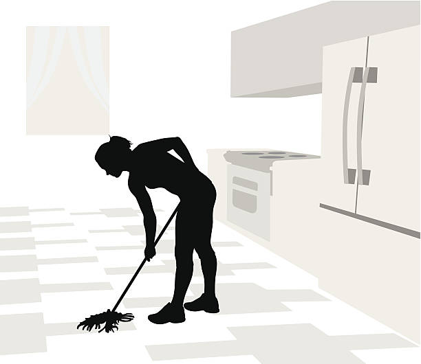 Royalty Free Mopping Floor Clip Art, Vector Images