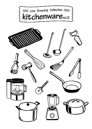 Kitchenware 2 -Line Drawing Collection-