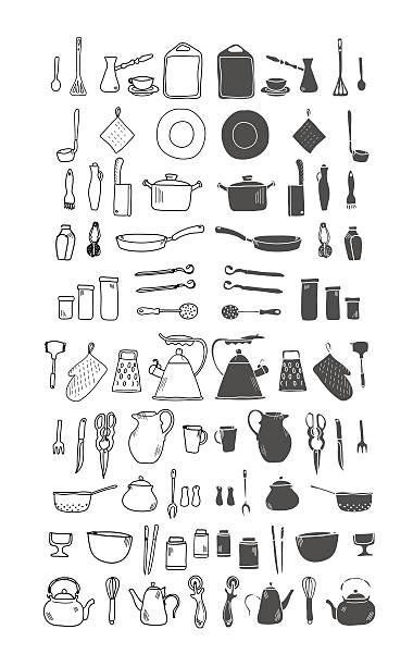 Ustensile vecteurs et illustrations libres de droits istock - Ustensile de cuisine en m en 6 lettres ...