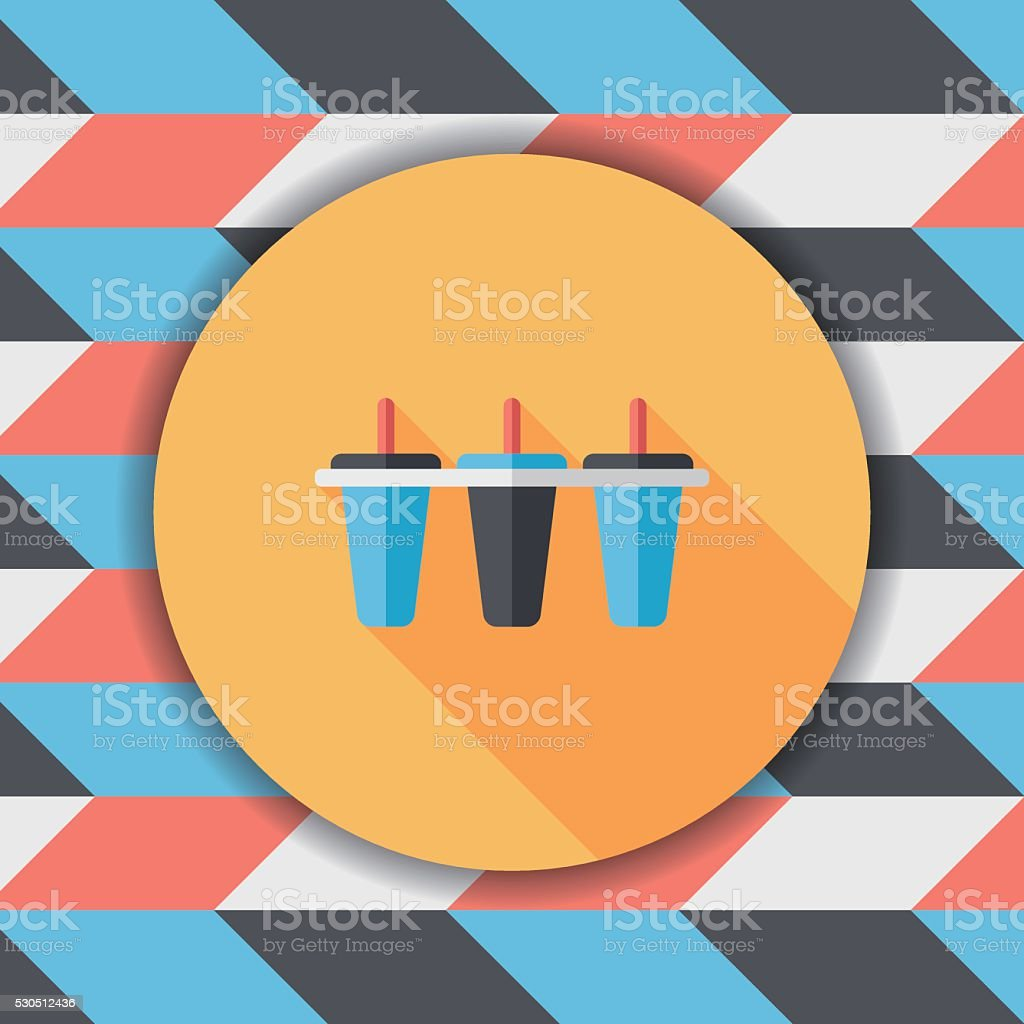 Kitchenware Ice Maker Flat Icon With Long Shadoweps10 Stock Vector