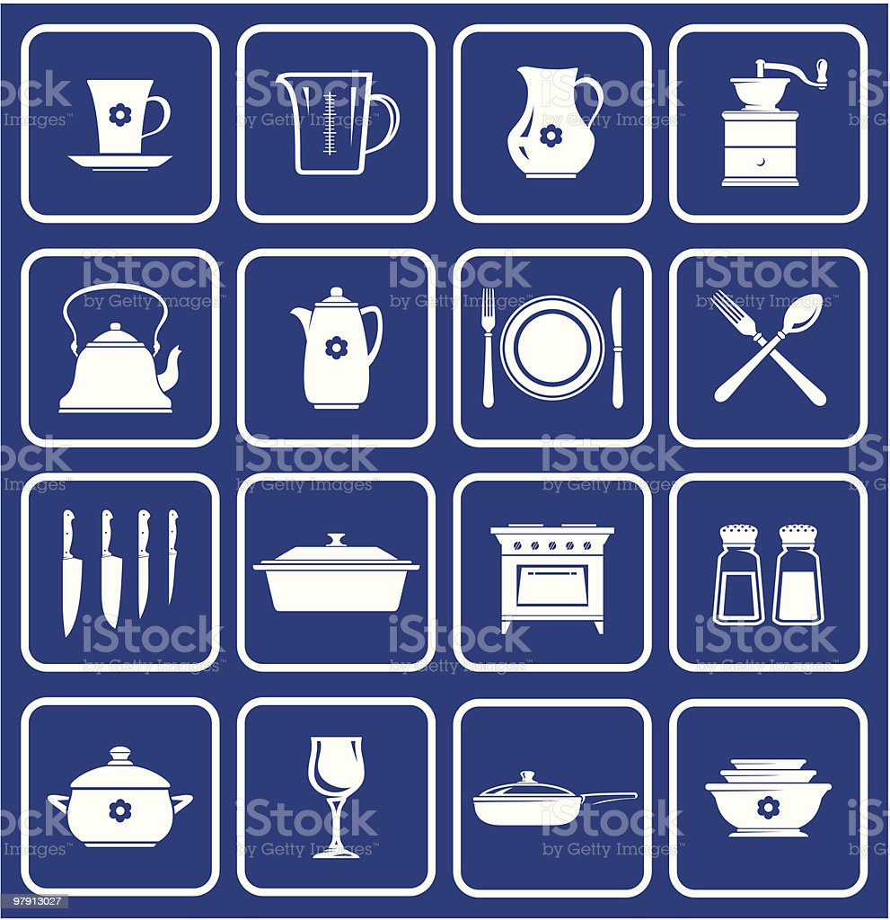 Kitchenware Icons 01 royalty-free kitchenware icons 01 stock vector art & more images of appliance