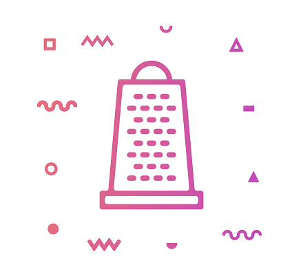 Kitchenware Line Style Icon Design