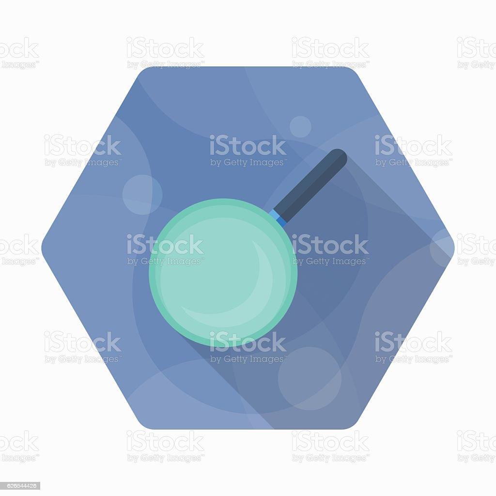 Kitchenware pan flat  icon vector art illustration