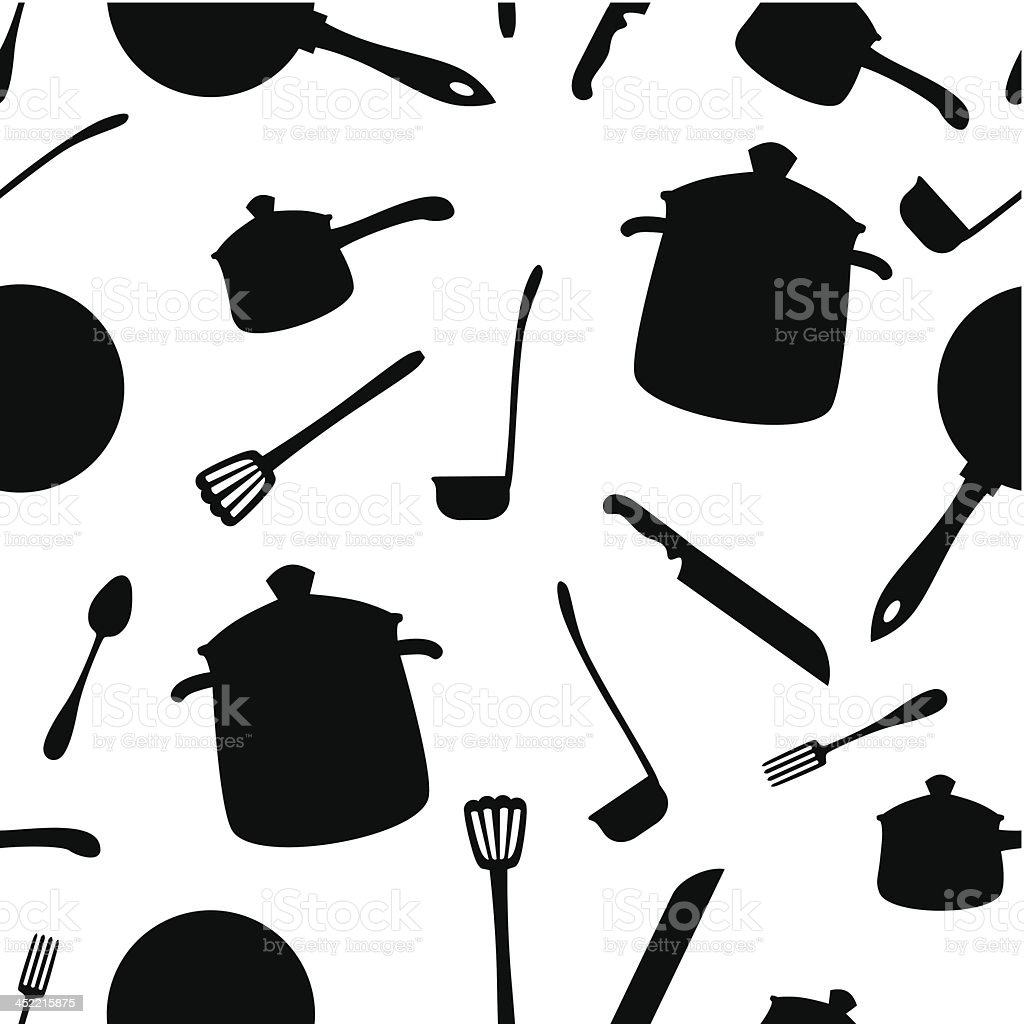 Kitchenware pattern royalty-free kitchenware pattern stock vector art & more images of backgrounds
