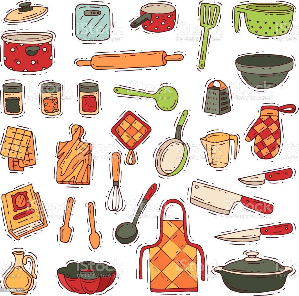 Ilustración de Utensilios De Vector De Utensilios De Cocina Para ...