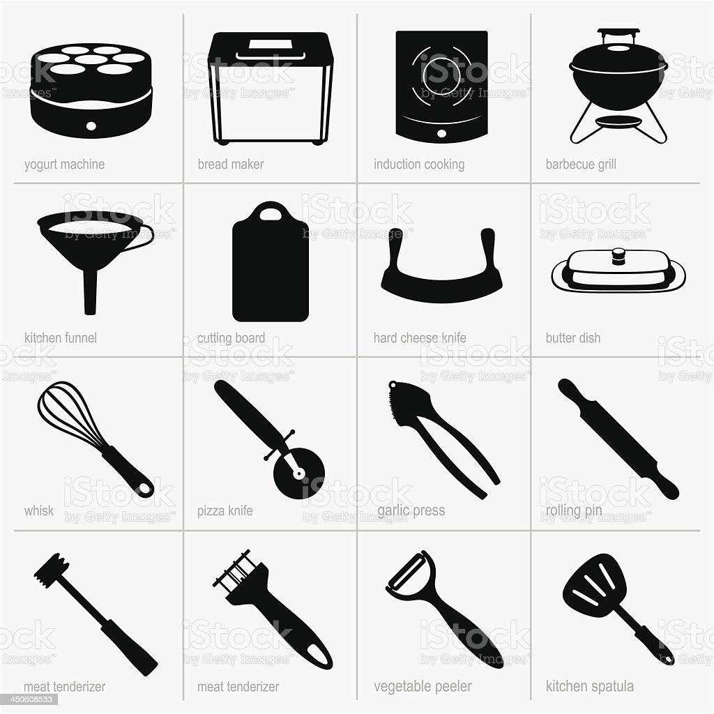 Kitchenware (part 3) vector art illustration