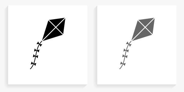 연 검은색과 흰색 사각형 아이콘 벡터 아트 일러스트