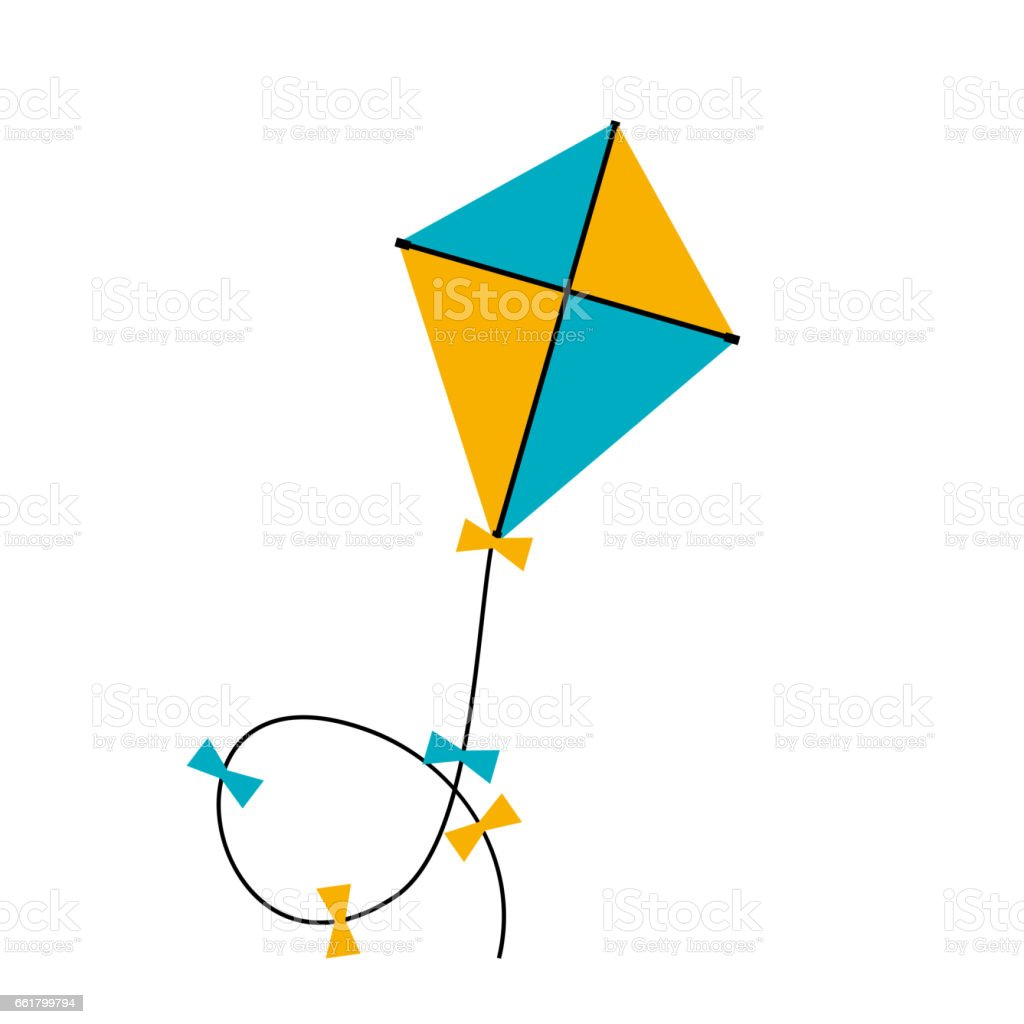 Kite  Icon. Vector Illustratio