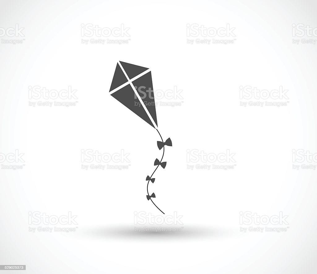 Kite icon vector vector art illustration