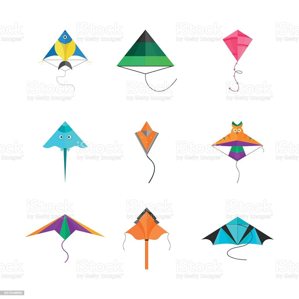 Kite icon vector.