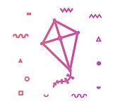 istock Kite Line Style Icon Design 1156139533