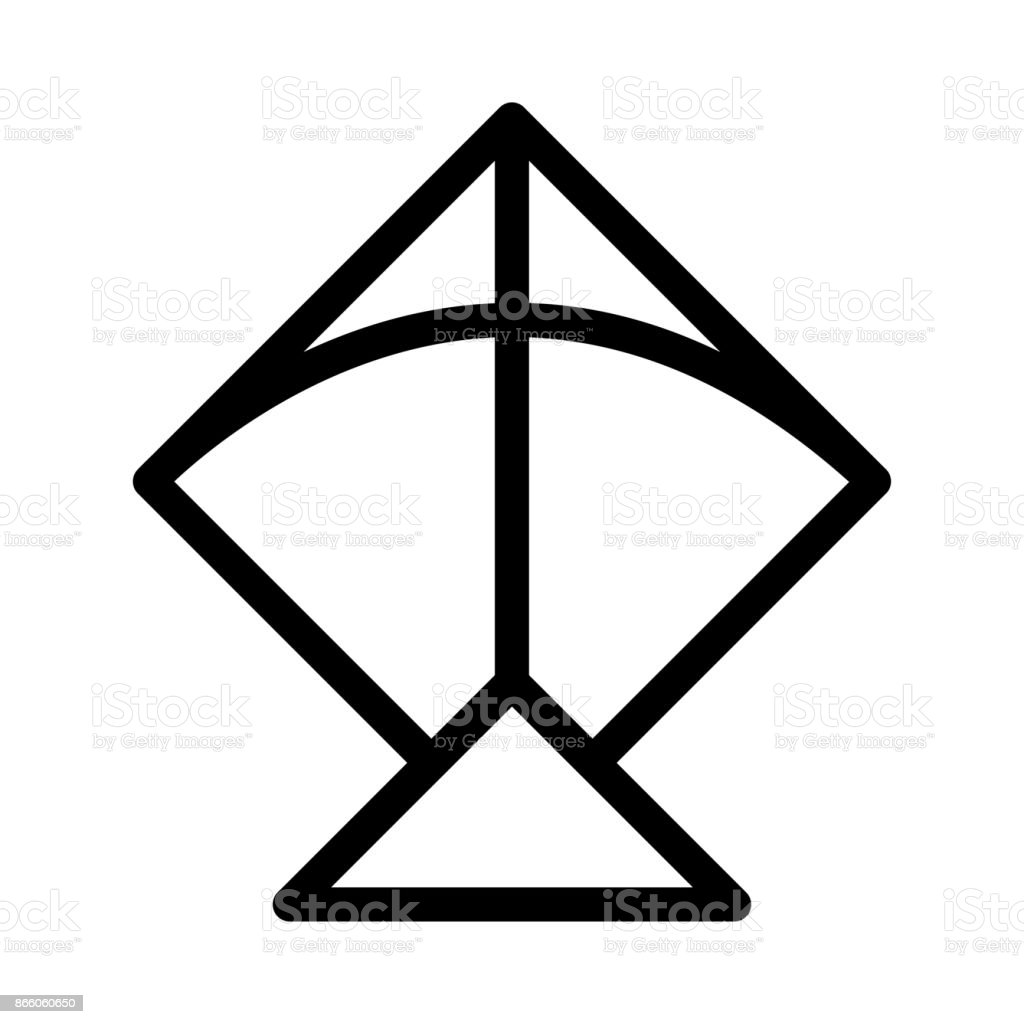 Line Drawing Kite : Kite thin line vector icon stock art more images