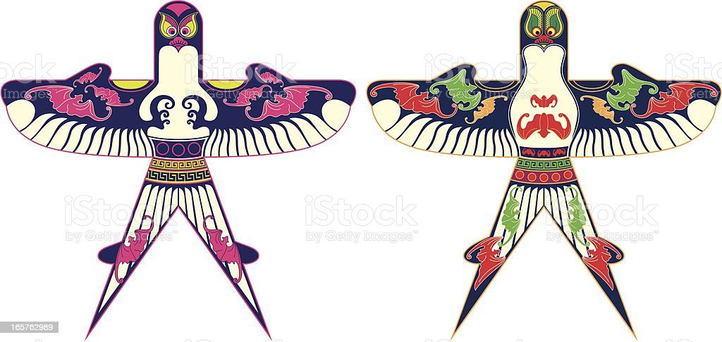 kite vector art illustration
